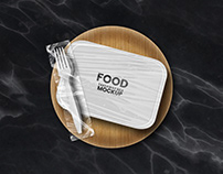 Paper Food Delivery and Takeaway Box Mockups