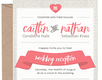 Caitlin & Nathan Wedding Stationery