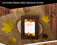 AUTUMN FRAME FREE MOCKUP IN PSD