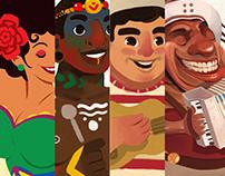 Criação de Personagens - Culturas. ALOPRA ESTUDIO