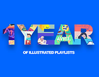1 year of illustrated playlists