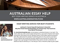 Australian Essay Help with Custom Writers