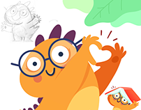 Dino Nicola Character for Kids Mobile App