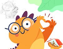 Dino Nicola Character for Kids Mobile App