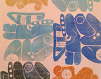 Woodcut Reliefs '14