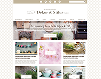 UI design in vintage style for a DIY home decor blogger