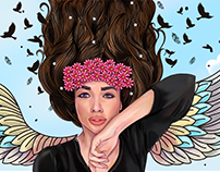 Portrait Illustrations for Amy Jackson