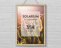 Solarium advertising posters