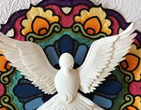 Holy Spirit paper sculpture