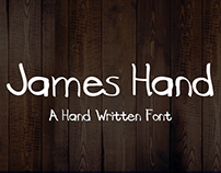James Hand - New Free Font (Handwriting)