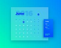 100 Days UI Challenge - Day 11: Calendar Card