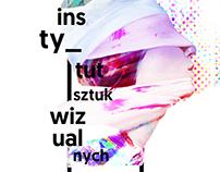 plakat i ulotka promujące Instytut Sztuk Wizualnych