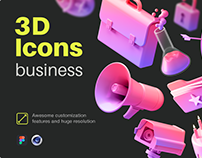 Multiangle Business 3D Icons