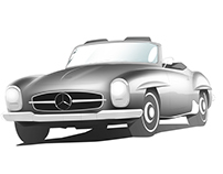Mercedes 190SL Illustration