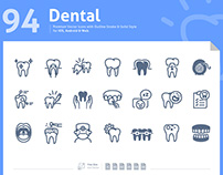Dental Premium vector icons for iOS, Android & Web.
