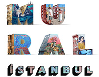 Mural Istanbul advertising campaign