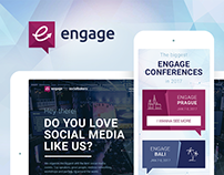 Socialbakers — Engage events web design