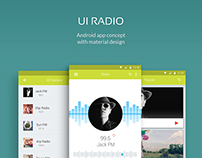 UI Radio App Concept Mobile and Tablet