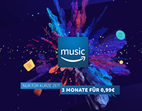 Amazon Music Promo End Page commercial