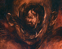 Painting - Gods of Terror - Head 4