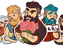 VKontakte Borodist Sticker Set