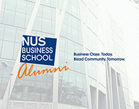 NUS Business School Alumni - Eflyer Design