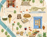 Sevilla Illustrated Map - Sense of Home Magazine