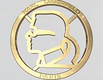 karl lagerfeld paris, silhouette ornament; cad design