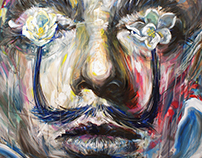 Dali with magnolia (Blue version) (SOLD)