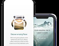 Travel app UI design for iOS