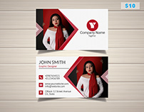 Stylish Designer with Photo Business Card
