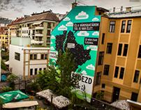 Mural at Kazinczy utca, Budapest.