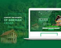 Siberian Cedar website design