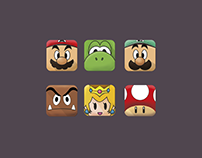 Supe Mario Bros icons