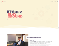 Prototyping new layout of Ktquez personal website 2017