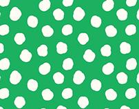 Green Clouds Polka Dot Pattern