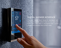 Concept of digital shower interface