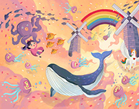 Rainbow Land • Vincom • Children's Day Illustration