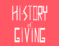 History of giving infographic