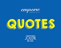 Jolen India Quotes.