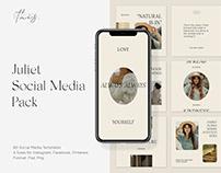 Juliet Social Media Pack PS Instagram Templates Stories
