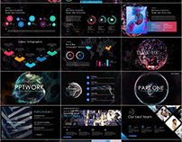 4 in 1 Technology report PowerPoint template