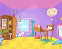 ELLA BELLA BINGO children's TV Art direction