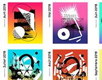 Espace B (concert venue) programs and flyers system