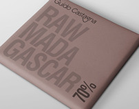 RAW Chocolate bar design for Guido Castagna