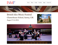 British Isles Music Festival - website