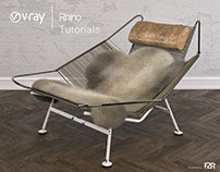 VRAY FOR RHINO FLAG HALYARD CHAIR