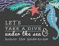 Huma nizamuddin on behance playful sea themed bridal shower invitation filmwisefo Images