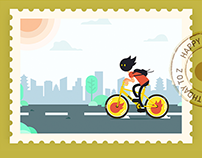 Zcool站酷13周年贺图征集-小z的旅程-Beijing