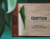 Menu design & Key Visual for Craftova Restaurant